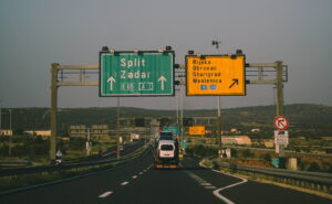 A1 highway Dubrovnik to Split