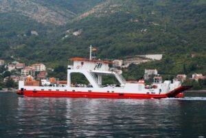 Ferry over bay of Kotor